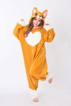 Unisexe adulte Corgi chien Cosplay Onesie combinaison vêtements de nuit pour les femmes animaux Pyjamas Pyjamas Halloween Party Cosplay Costume hommes
