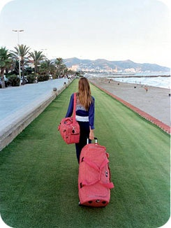 Kipling-- has great luggage, laptop bags, backpacks, wallets, and more. I own at least 2 of every thing I mentioned.