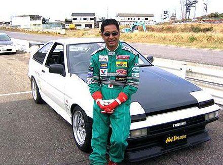 Living legend, Drift king and his trd ae86 - Keiichi Tsulchiya.