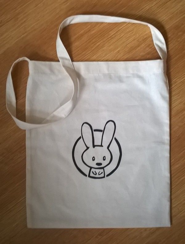 tote bag with bunny