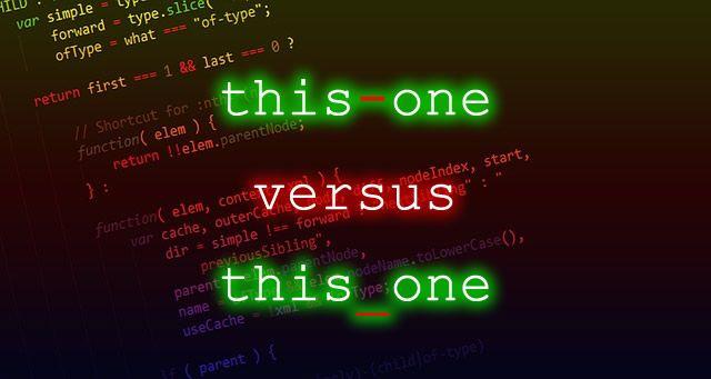 dashes versus underscores