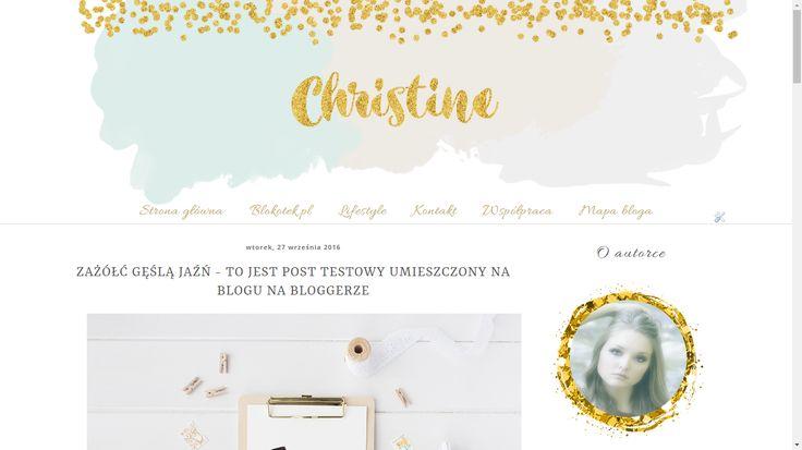 Szablon dla Bloggera - Christine