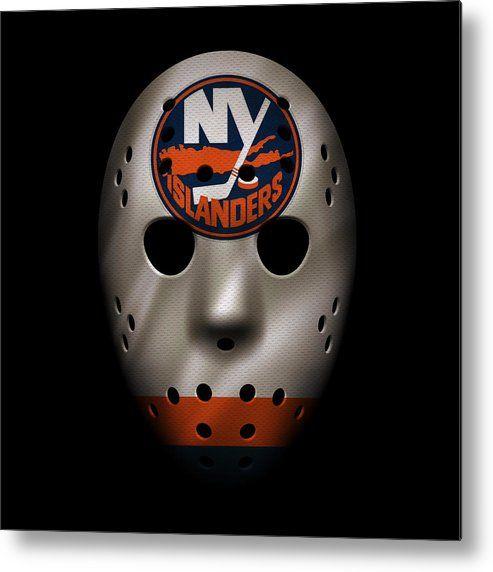 Islanders Metal Print featuring the photograph Islanders Jersey Mask by Joe Hamilton