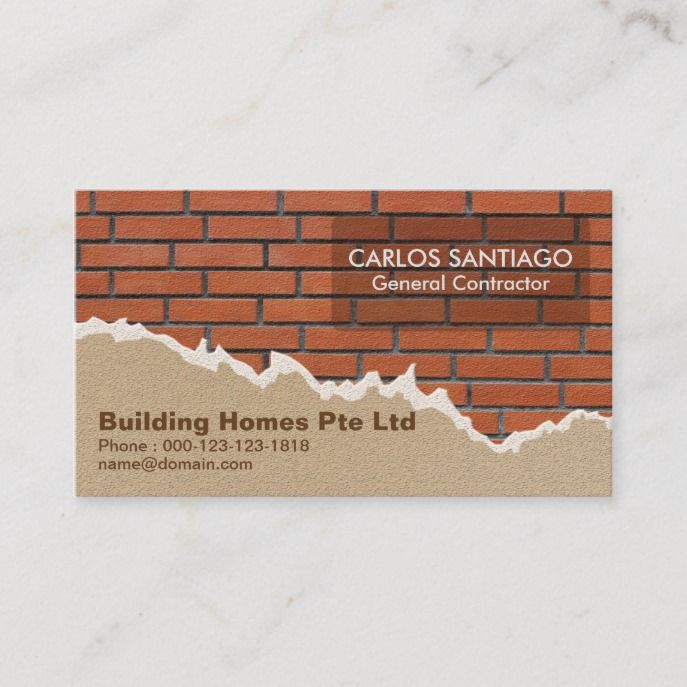 Creative Brickwork And Plaster Construction Business Card Zazzle Com In 2021 Construction Business Cards Business Cards Creative Templates Business Cards Creative