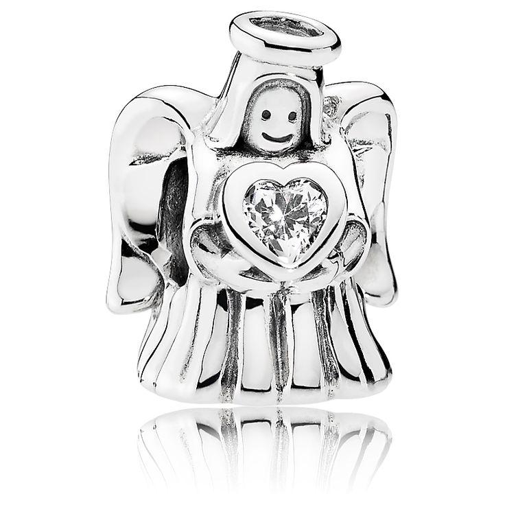 #Pandora Charm Engel aus 925 Sterling Silber und Zirkonia