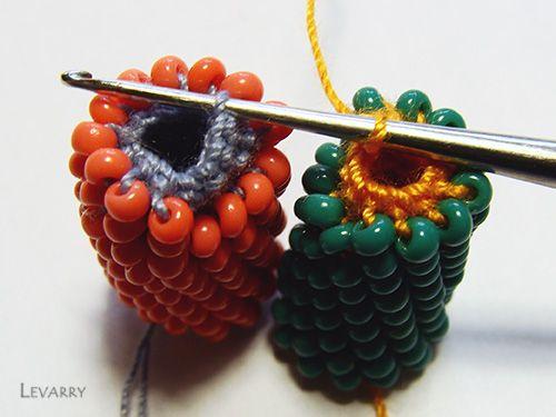 Master class per il collegamento dei due cablaggi (colonna maglia)   biser.info - tutto di perle e perline opere