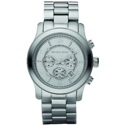 Michael Kors Watches Oversized Silver Runway Watch Check https://www.carrywatches.com