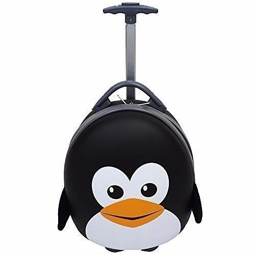 Travel Suitcase Rolling Storage Children Luggage With Handle Peppy Penguin New #Penguin