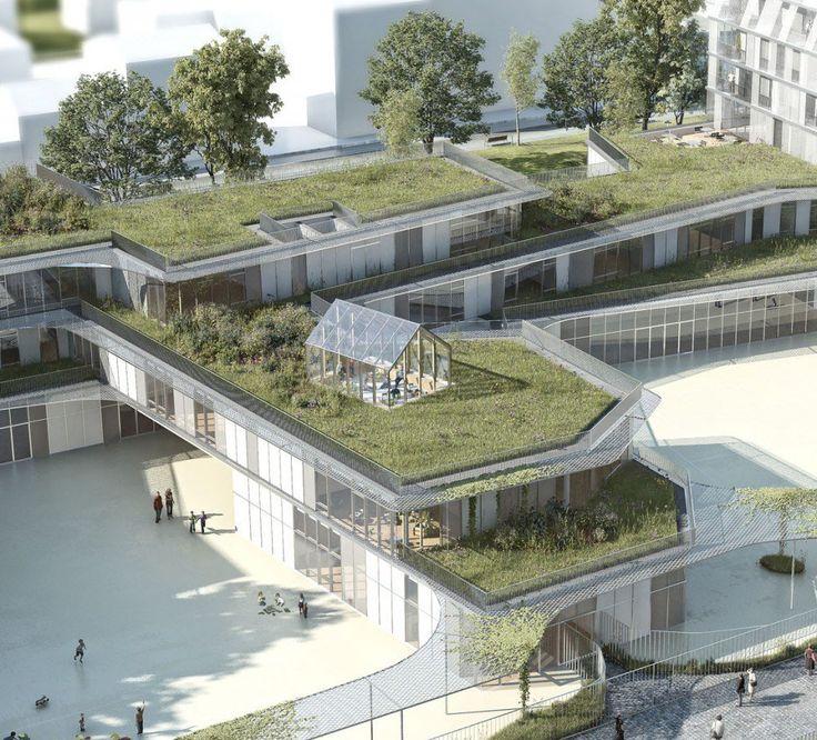 Galería de Propuesta Ganadora para Colegio y Residencia Estudiantil / Chartier Dalix Architectes - 8