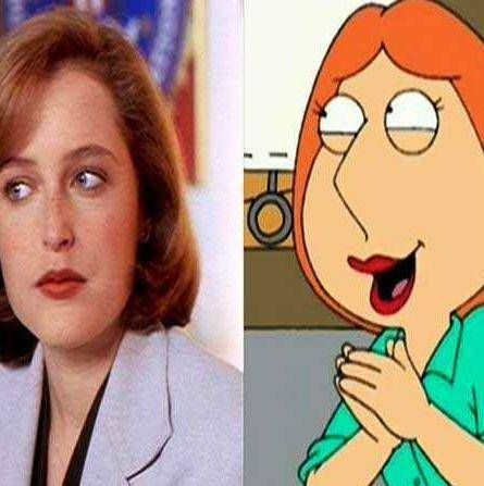 Gillian Anderson and Lois Griffin