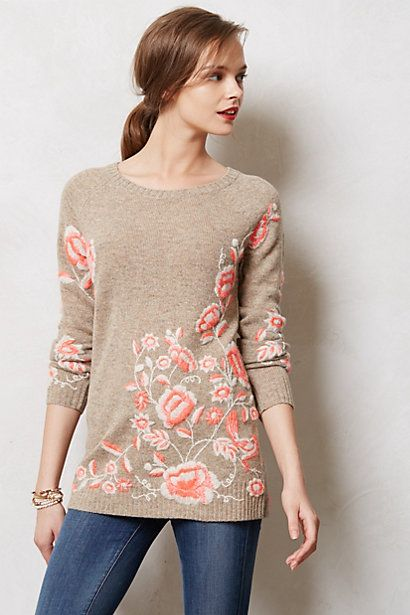 Embroidered Ranunculus Tunic - we're heading towards summer and all I love is the winter clothes...