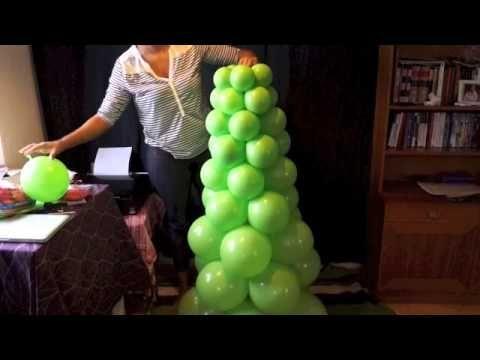 Como hacer un Arbol Navideño con globos - How to make a Balloon Christmas Tree - YouTube