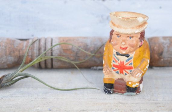 Chalkware Toby Jug British Toby Jug British by SweetPetuniaVintage