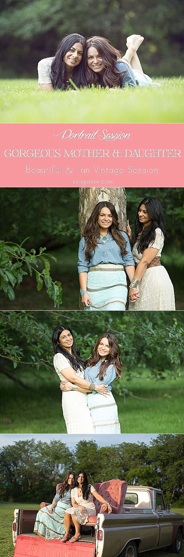 mother daughter photography session with a vintage feel - love how this session turned out by this amazing photographer!