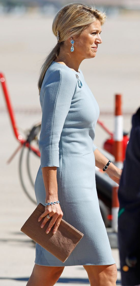 Queen Maxima along with husband King Willem-Alexander of the Netherlands makes an introductory visit to Spain. 9/18/2013