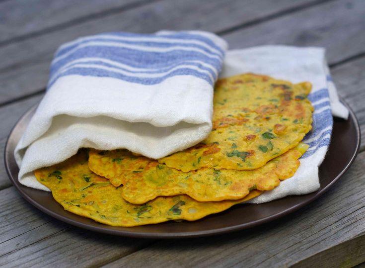 Kikert crepes kan du steke og servere sammen dip av guacamole, tsatziki, hummus eller rømme. De egner seg som tortilla-lefser til fredagens taco eller som…