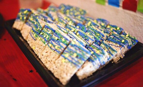 Super Why Birthday rice crispies by Shandi Cakes