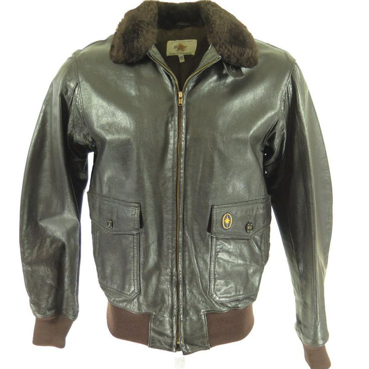 Vintage 70s Civil Type G-1 Goatskin Leather Flight Jacket 42 Long | eBay