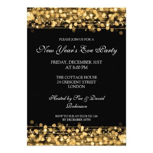 164 best new years eve party invitations images on Pinterest