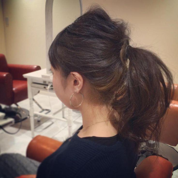 today's hair style☆  シンプルポニー☆  #ヘアセット #セット #アップスタイル #ポニー #ポニーテール #波ウェーブ #シンプルセット  #ふわふわ #シンプル #結婚式 #ルーズ  #フェミニン #ブライダル #パーティー #ありがとう #京都  #京都駅前 #t2style #love  #courarir #courarirhair #courarirkyotoekimae #courarirhairkyotoekimae