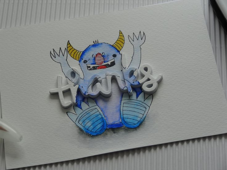 card made with Bobunny Monsters. Video on my Youtube channel @CraftyMax     https://www.youtube.com/channel/UCQnGEWbLqHRN2fS7Xlvum9g