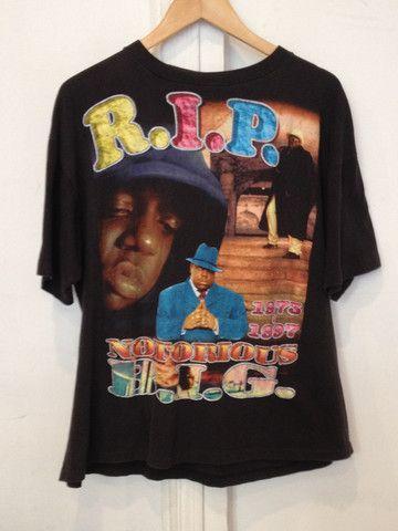 Vintage BIGGIE Memorial T-SHIRT - Notorious BIG #vintage #raptshirt