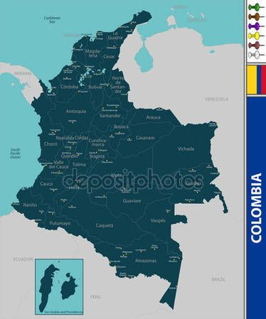 Mapa de colombia Ilustración De Stock