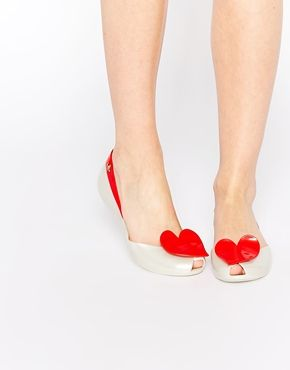 Vivienne Westwood For Melissa Pearl Red Queen Flat Shoes