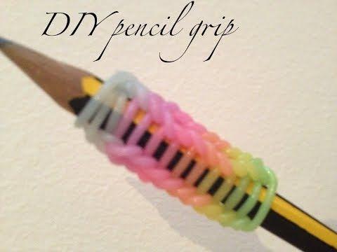 Rainbow Loom Pencil Hugger: Add to a Bracelet - YouTube
