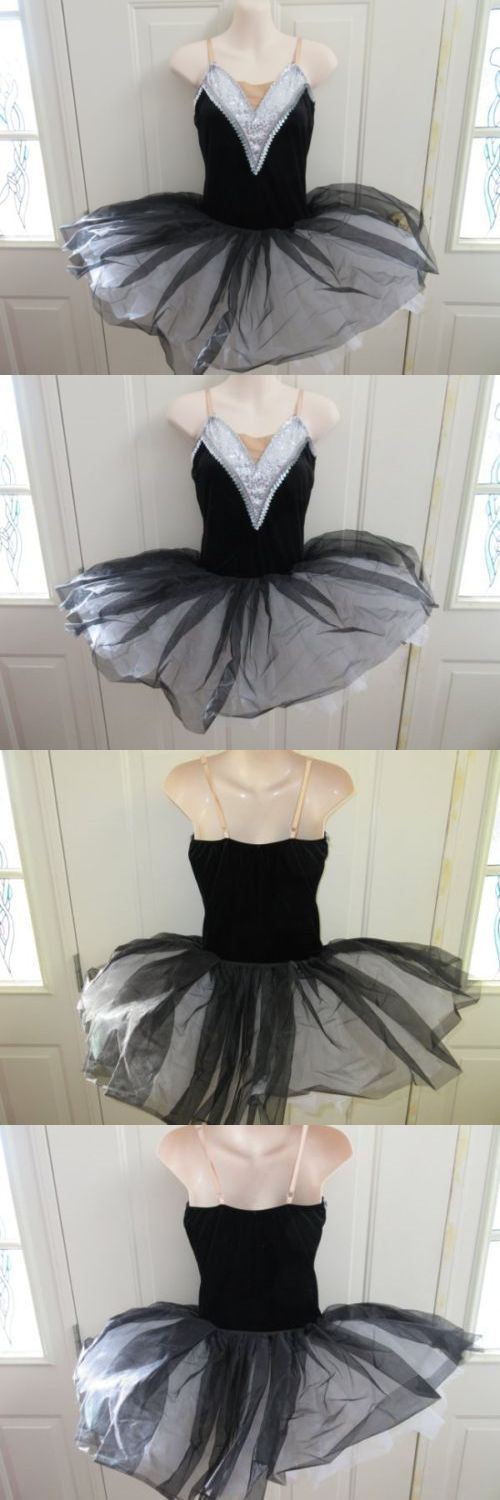 Dancewear: White Black Gray Silver Ballet Tutu Dress Dance Costume Medium Adult Ma -> BUY IT NOW ONLY: $49.99 on eBay!