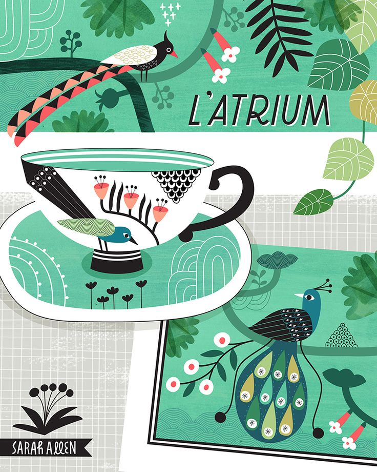 Sarah Allen Illustration GTS 2016 tea cup