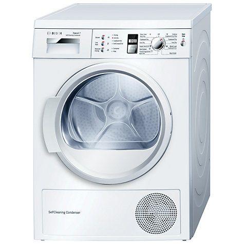 Buy Bosch WTW863S1GB Sensor Condenser Tumble Dryer, 7kg Load, A++ Energy Rating, White Online at johnlewis.com
