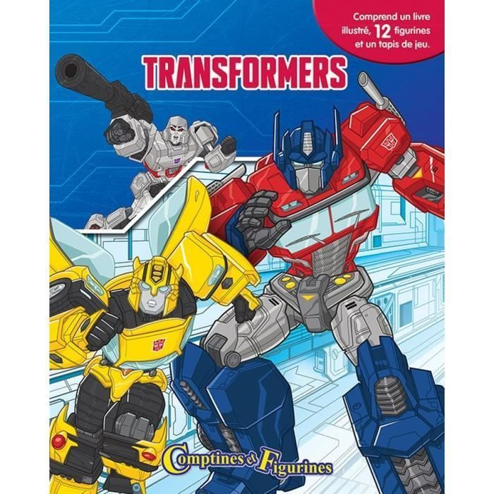 Hasbro Phidal Transformers Coffret 12 Comptines Et Figurines Tapis De Jeu 9782764344569 Multicolore Comptines Livre Cartonne Et Livre Bebe