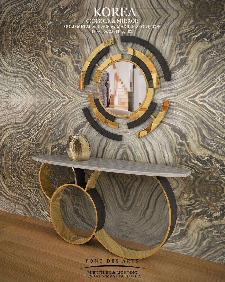 Korea Console & Mirror - Pont des Arts Studio - Designer Monzer Hammoud - Paris-
