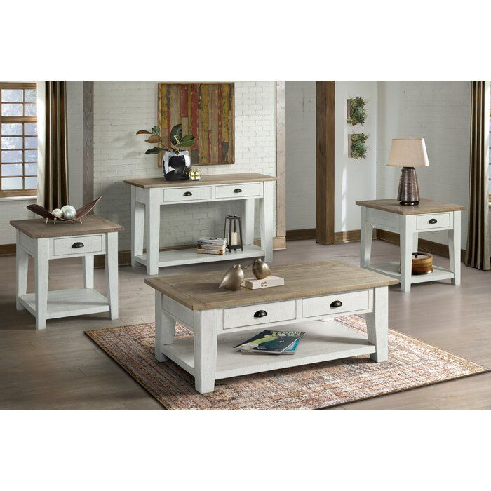 Rosecliff Heights Blaris 4 Piece Coffee Table Set Reviews Wayfair 4 Piece Coffee Table Set Coffee Table Coffee Table Setting 4 piece living room table set