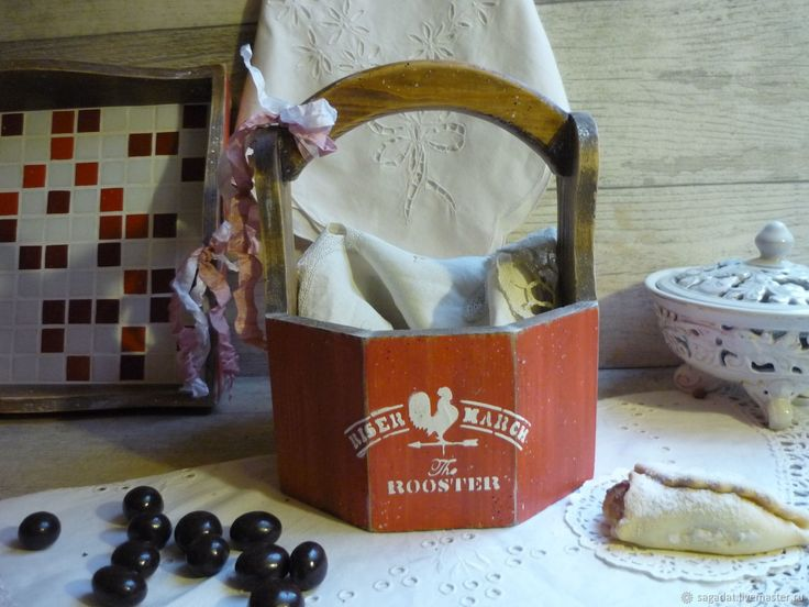 Купить Лукошко из алтайской сосны ,,French country,, в интернет магазине на Ярмарке Мастеров