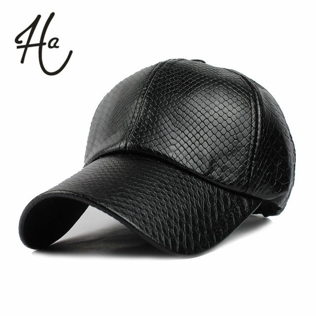 Cool!new fashion PU black Baseball Cap women Hats For men fall Leather cap Trucker cap Sports snapback winter hats for women