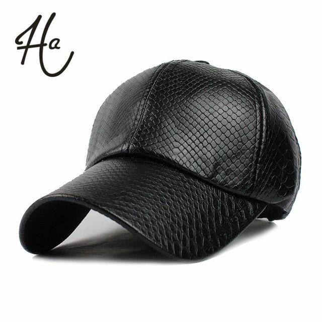 Cool!new fashion PU black Baseball Cap women Hats For men fall Leather cap Trucker cap Sports snapback winter hats for women