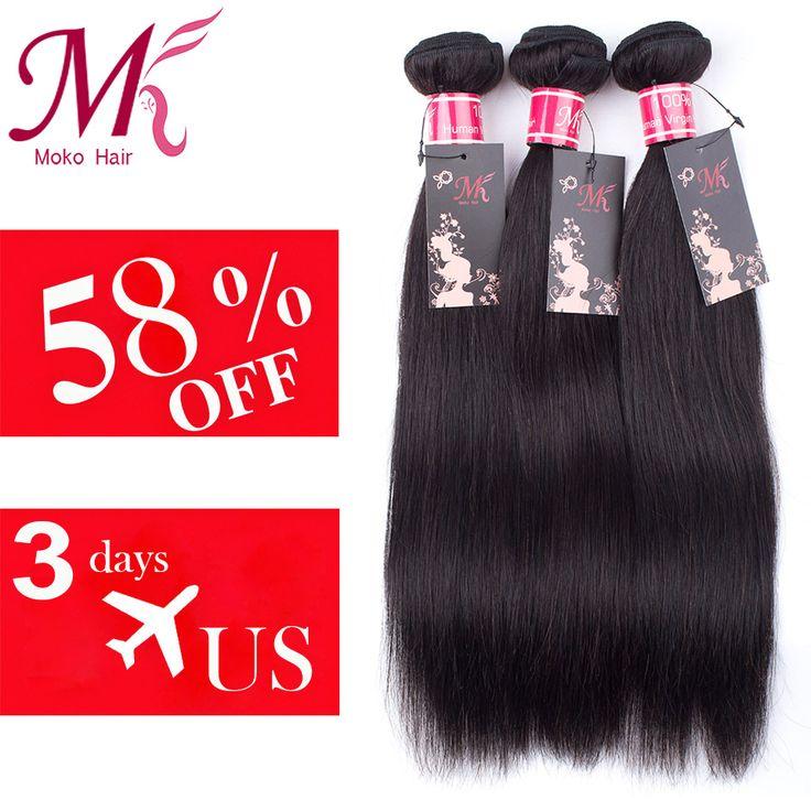 """Saçlarin kapatilmasi Hair Weaving Brazilian Virgin Hair Straight 3 Bundles Mink Brazilian Hair Weave Bundles 7A Brazilian Straight Hair 8""""-28""""Human Hair Weave * Bu bagli bir çam AliExpress oldugunu.  AliExpress web sitesindeki ZIYARET dugmesine basarak benzer ogeleri bulun."""