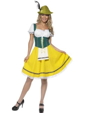 ADULT WOMEN GERMAN BEER FESTIVAL OKTOBERFEST SMIFFYS FANCY DRESS COSTUME 3 SIZES