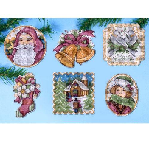 Набор для вышивки крестом Design Works Crafts 1688 Викторианское Рождество
