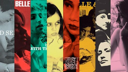 belle and sebastian (I have all but one of these albums in this collage, hehe)