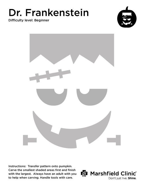 Dr. Frankenstein Pumpkin Carving Tempalte | Shine365