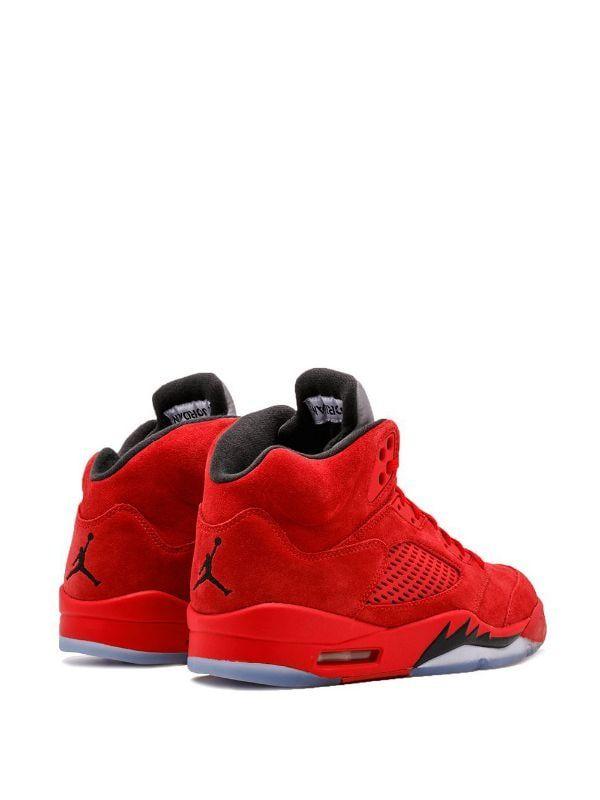 Jordan Air Jordan 5 Retro Red Suede - Farfetch   Jordan shoes ...