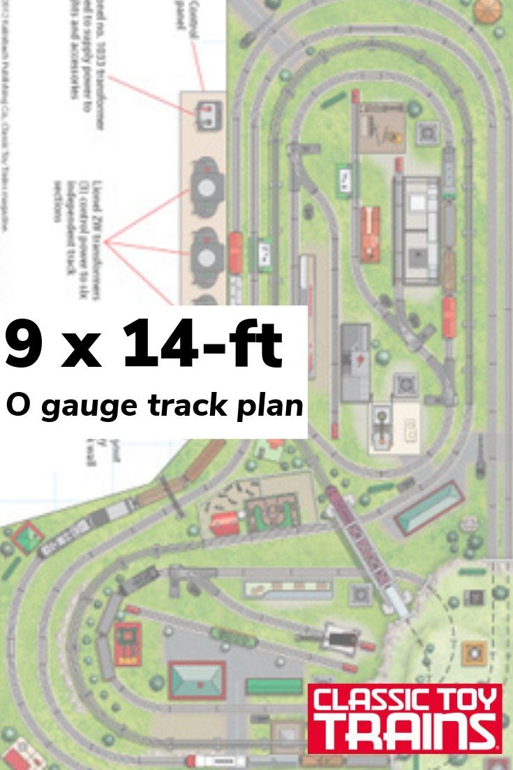 Download This 9 X 14 Foot O Gauge Track Plan It Boasts Six