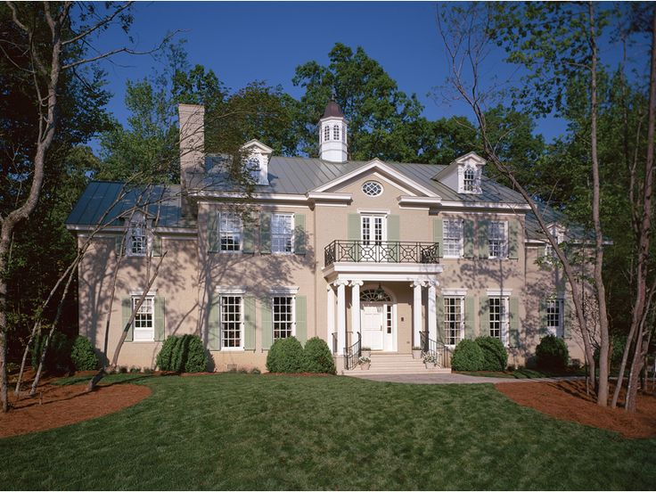 129 best plantation homes images on pinterest gone with for Luxury plantation home plans