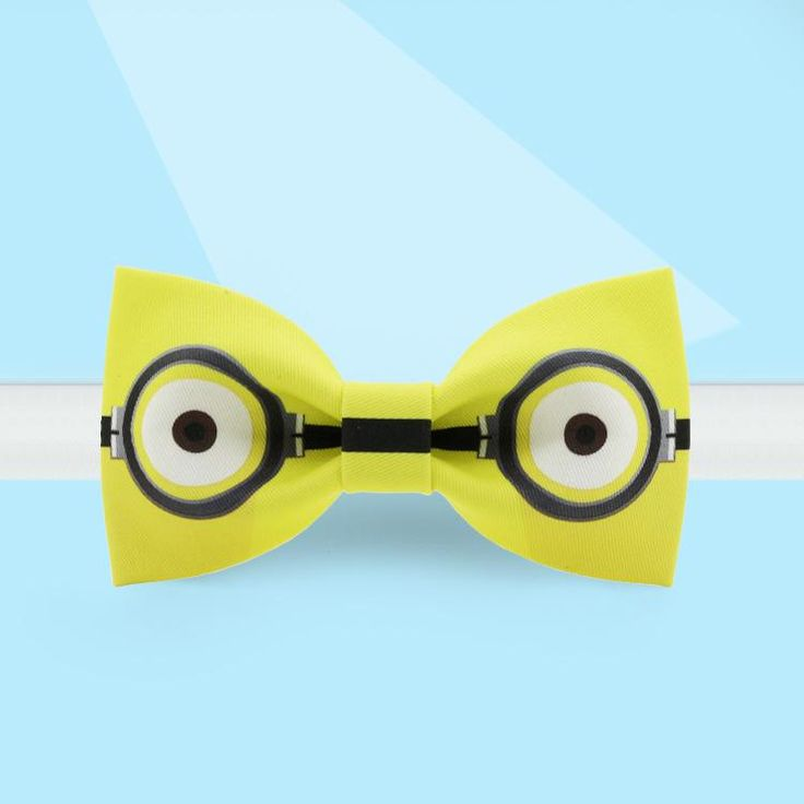 Minions printed yellow bow tie#bowtie#noveltytie#tie#yellow#minion#fashion#menfasion#accessory#novelty#design