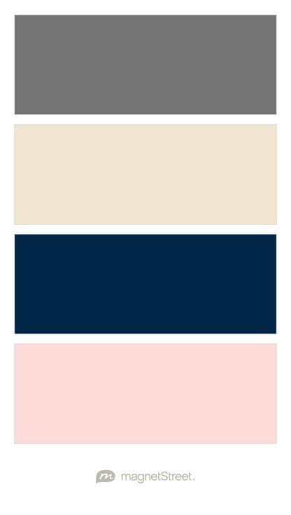 Finally just had to create my own...Charcoal, Champagne, Navy, and Teaberry (Blush) Wedding Color Palette - custom color palette created at MagnetStreet.com