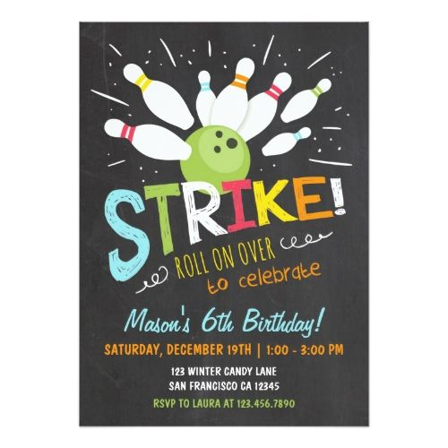 Best  Bowling Birthday Invitations Ideas On   Bowling