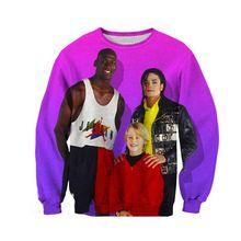 Nieuwe 90 S Jordan & Michael Jackson Gedrukt 3D mannen/womens sweatshirts unisex hoodies harajuku stijl truien streetwears tops(China)